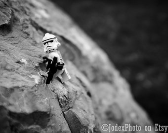 Star Wars™ LEGO® Stormtrooper 'Climbing' Photograph Print 7x5, 8x10 or 20x16 Wall Art Home Decor