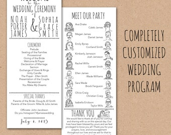 Funny wedding programs – Etsy