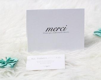 Merci (Thank You) | Card