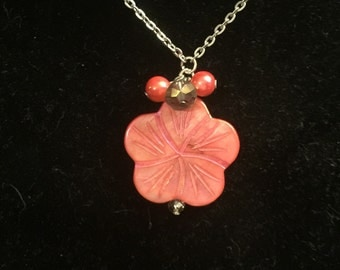 Hibiscus Necklace & Earrings