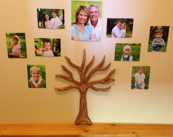 Carved Wood Family Tree Wall Hanging