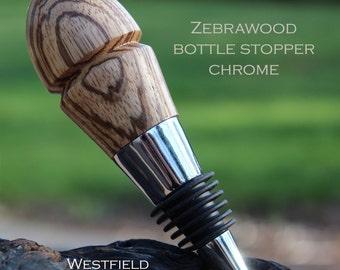 Zebrawood Bottle Stopper