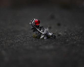 "Silver handmade pendant ""The Fern Leaf"""