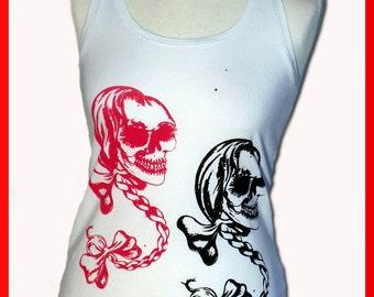 """Tanktop girlie Boxer """"pretty skull"""""""