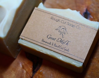 Unscented Goat's Milk Cold Process Soap