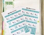 30 Day Crunch Challenge Stickers
