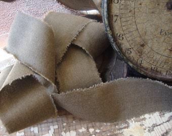 Bark Raw Muslin Frayed Fabric Ribbon