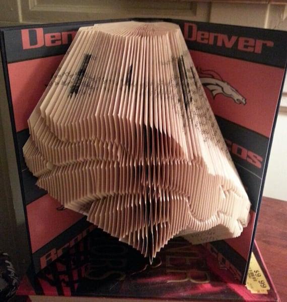 Man Caves For Sale Denver : Denver broncos folded book unique football nfl man cave