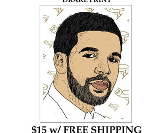 Drake OVO Illustration Poster Print SALE + Free Shipping
