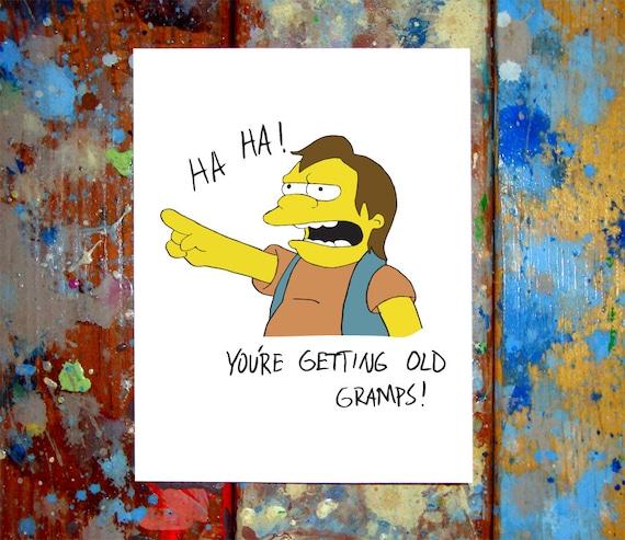 Happy Birthday Simpsons Card