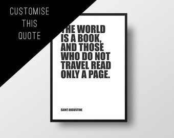 Custom Quote Poster, Bold Text, Block Text, Quote of your choice, Minimalist Poster, Custom poster, Personalised Print, Custom Art