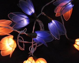 mixed flower string lights for patioweddingparty and decoration 20 bulbs - Flower Christmas Lights