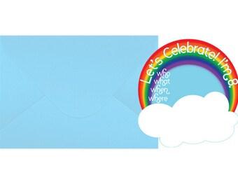 "Baptism Invitations ""I Like to Look for Rainbows"""