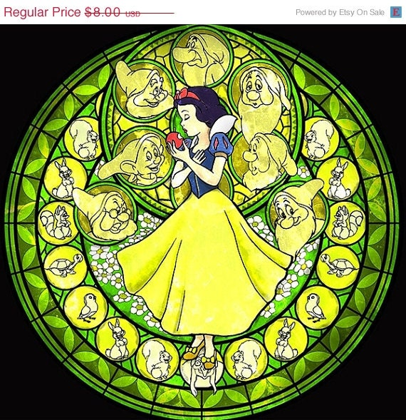 """ON SALE Counted Cross Stitch Patterns - Snow white  - 19.71"""" x 19.14""""  - L768"""