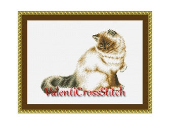 Cross Stitch Patterns,Cat, Counted Cross Stitch Pattern Cat, Cross Stitch Chart,Animals,Pets