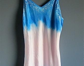 Silk lingerie, batik silk shirt, hand dyed silk camisole, silk shirt, size small, silk intimates