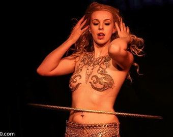 Gold Sea Octopus Burlesque Pasties