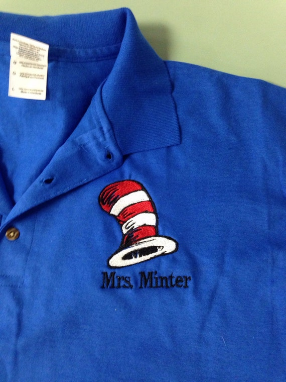 dr  seuss hat monogrammed polo