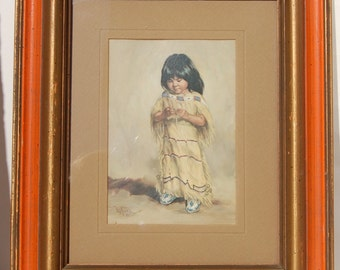 Vel Miller Little Native American Girl Print