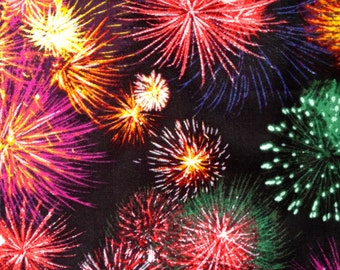 Fireworks Display- by David Textiles- Cotton Quilting Fabric
