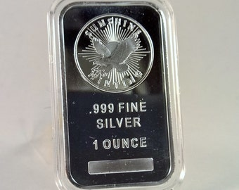 Silver Bar (1 Ounce) Sunshine Minting (BU) w/ Air-Tite