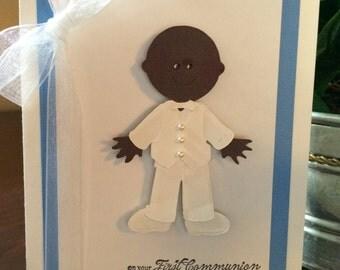 Boy or Girl Communion Card