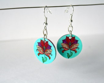"Earrings ""The multicolored plant"""
