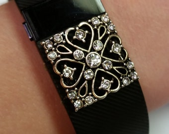 Fitbit Charge/HR/ 2  or Flex/Alta Band Bling Accessory - Queen