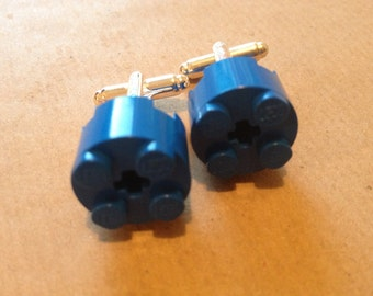 Lego Cufflinks in Blue, 'Monday Blues'