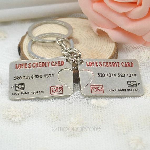 Credit Card Keychain Love Fob Key Chain By