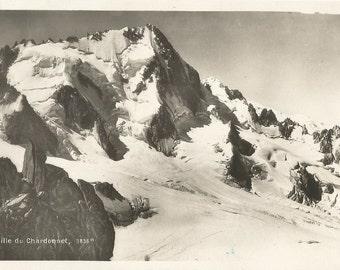 Vintage 1930's Unused Postcard - Aiguille du Chardonnet  - Switzerland -  Edition Art. Perrochet-Matile