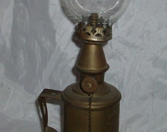 antique small French hurricane lantern