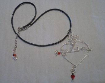 jewel Heart Necklace name or I love you beads to the selection made hands orne