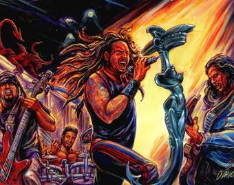 "The Korn Print is a replica of Art By Dano's original painting ""Korn"""