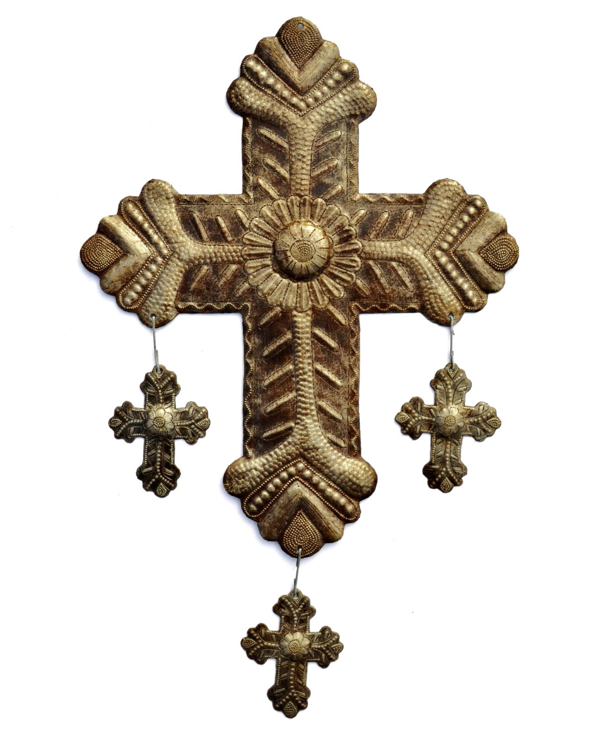 Religious Home D Cor Metal Cross With Hanging By