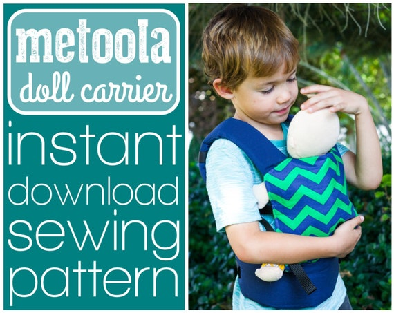 Crochet Pattern For Doll Sling : Metoola baby doll carrier sewing pattern INSTANT DOWNLOAD