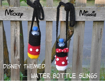 DISNEY Themed Water Bottle Sling