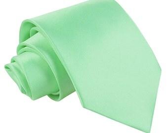 Satin Mint Green Tie