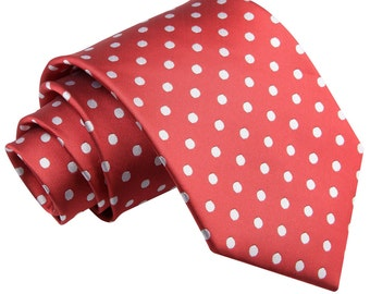 Polka Dot Dark Red Tie