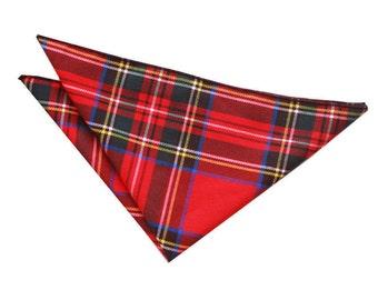 Tartan Red Royal Stewart Handkerchief / Pocket Square