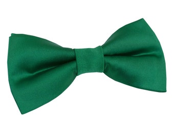 Satin Emerald Green Boy's Bow Tie