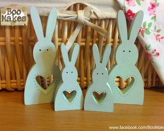 Mint Green Easter Bunny Family of 4