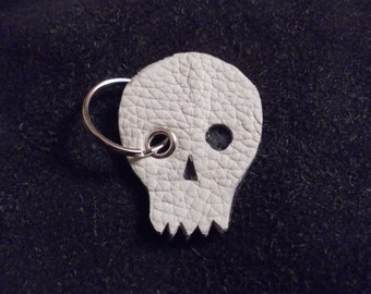 FREE SHIPPING! Leather key chain skull