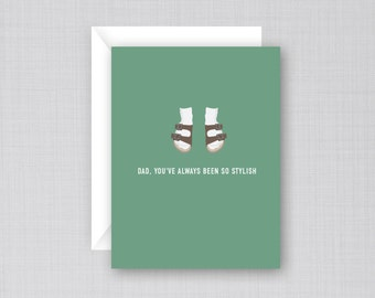 Dad Sandals Card | Funny Father's Day Card