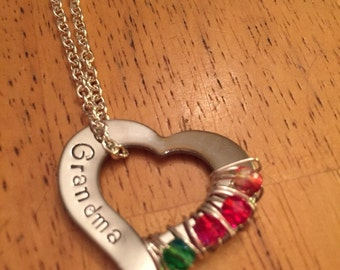 Grandma/ Mom Birthstone Necklace