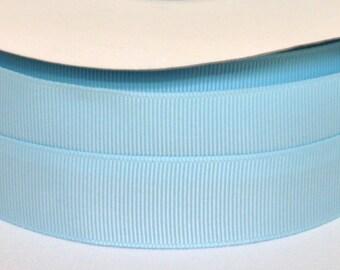 "5 yards 7/8 inch Light Blue Grosgrain Ribbon - 7/8"" Baby Blue Ribbon 5 yards - 7/8"" Light Blue Grosgrain Ribbon - Light Blue Ribbon 5 yards."