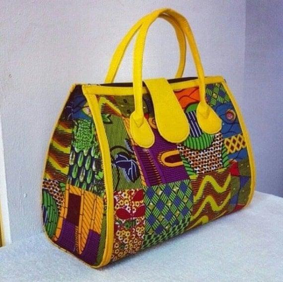 African Fabric Handmade Bag Ankara Design by SJWonderBoutique