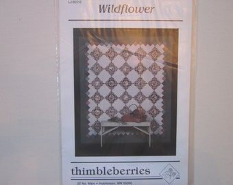 "Wildflower full size quilt pattern,Thimbleberries,vintage,9"" blocks"
