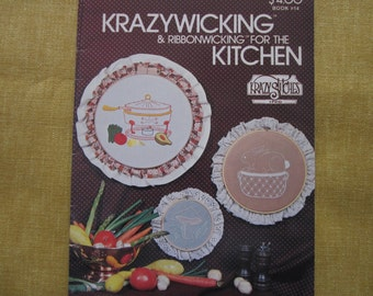 Krazywicking & Ribbonwicking for the Kitchen,candlewicking,book,patterns,instructions