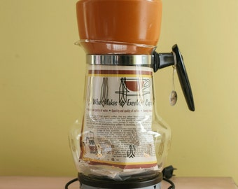 Vintage 1960's Mid Century Coffee Pot Maker! New Never Used!